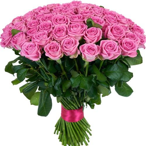 Купить на заказ Букет из 101 розовой розы с доставкой в Кандыагаше